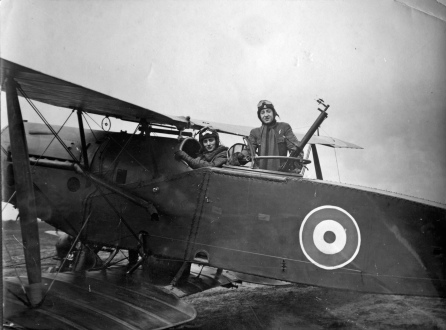 Bryan and observer in an F2B Bristol Fighter