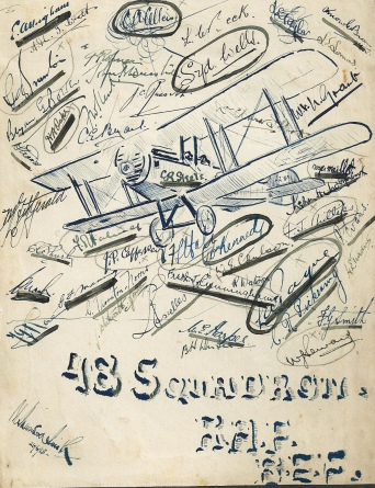Artwork by Bryan signed by members of 48 Squadron RAF